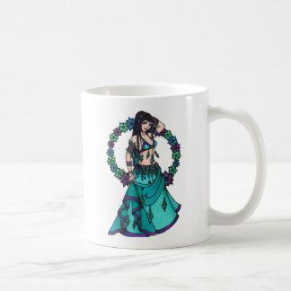 Lina Flower Goddess Belly Dancer Art Classic White Coffee Mug