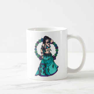 Lina Flower Goddess Belly Dancer Art Coffee Mug