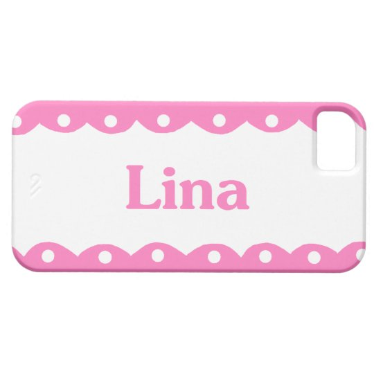 Lina Name Pink Lace iPhone SE/5/5s Case