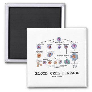 Linaje del glóbulo (medicina de la salud de la bio imán cuadrado