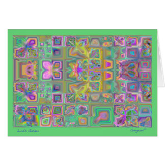 Lina's Garden abstract note card