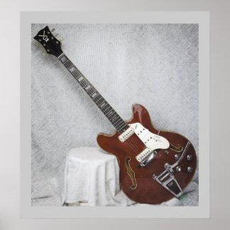 Lince estupendo GuitarPoster de lujo de la voz Posters