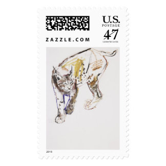 Lince europeo sello postal