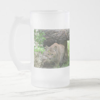 Lince lindo taza de cristal