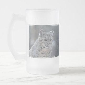 Lince magnífico taza de cristal