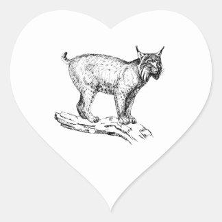Lince Pegatina Corazón
