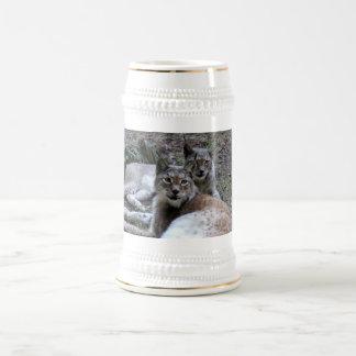 lince siberiano 022 jarra de cerveza