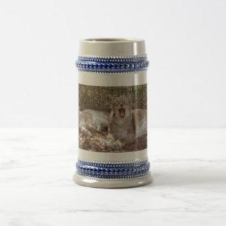 lince siberiano 037 jarra de cerveza