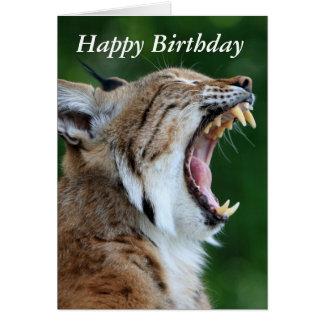 Lince, tarjeta hermosa del feliz cumpleaños de la