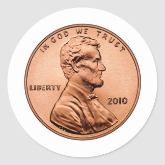 LINCOL PENNY STICKERS