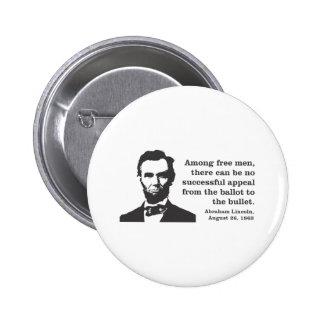 Lincoln 2 Inch Round Button