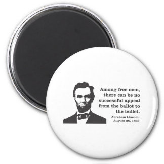 Lincoln 2 Inch Round Magnet
