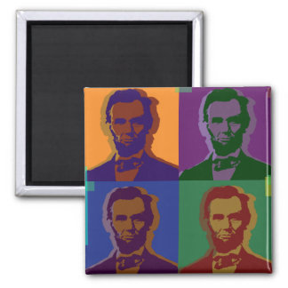 Lincoln 2 Inch Square Magnet
