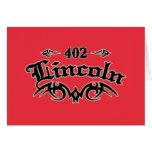 Lincoln 402 tarjetas