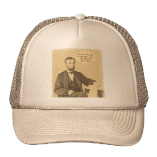 Lincoln Ages or Angels Historic Quote Trucker Hat