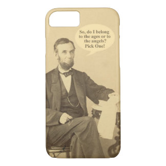 Lincoln Ages or Angels Historic Quote iPhone 8/7 Case