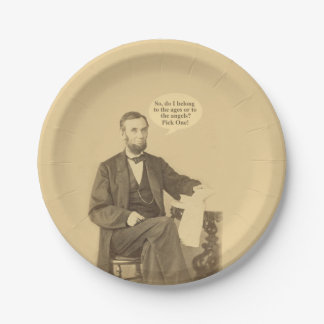Lincoln Ages or Angels Historic Quote 7 Inch Paper Plate