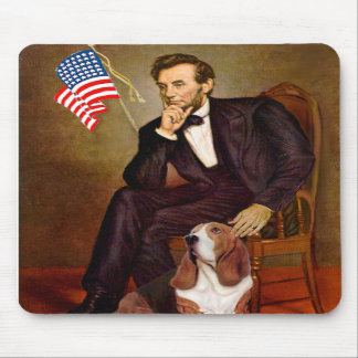 Lincoln and Basset #2 Mousepads