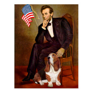 Lincoln and Basset #2 Postcard