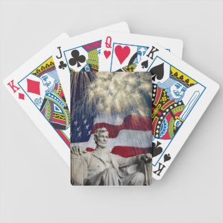 Lincoln and Fireworks Bicycle Playing Cards