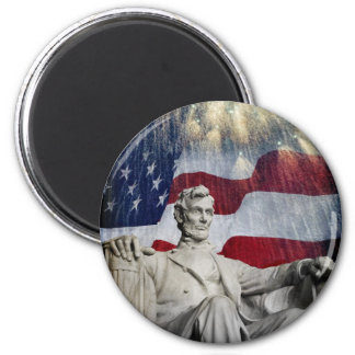 Lincoln and Fireworks Magnet