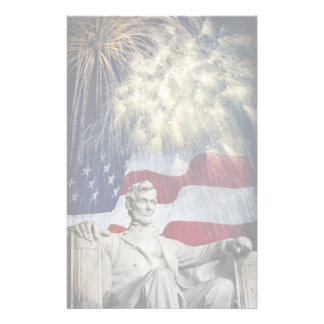 Lincoln and Fireworks Stationery