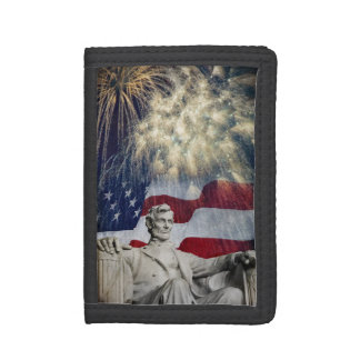 Lincoln and Fireworks Trifold Wallet