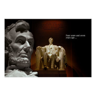 LINCOLN and GETTYSBURG ADDRESS .  .  . Poster
