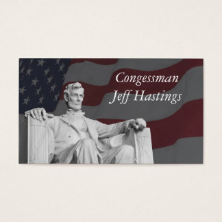 Lincoln and the Flag Business Card