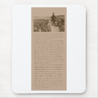 Lincoln and The Gettysburg Address Mouse Pad