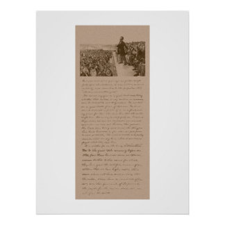 Lincoln and The Gettysburg Address Poster