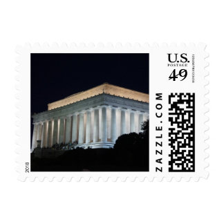 Lincoln at Night Postage