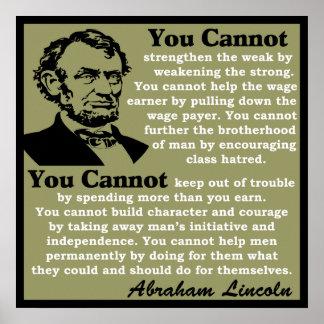 Lincoln: ¡Ayuda usted mismo! Impresiones