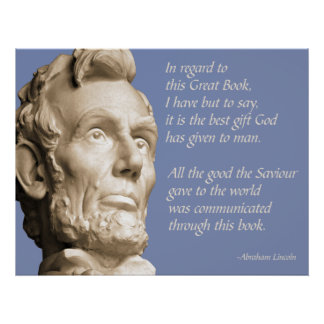 Lincoln Bible Quote Poster