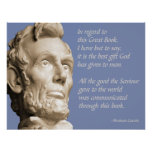 Lincoln Bible Quote Posters