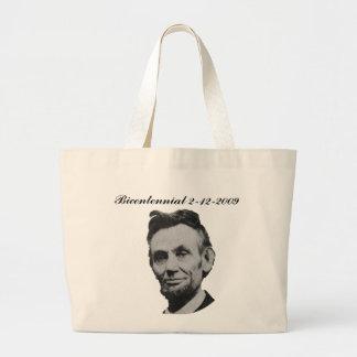 Lincoln Bicentennial Canvas Bags