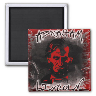 Lincoln Blood-Red Horror Star Magnet