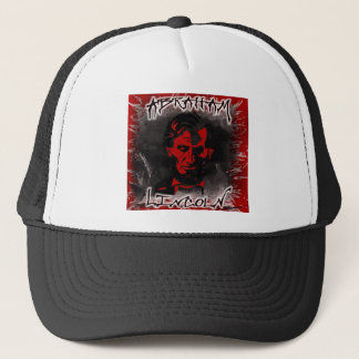 Lincoln Blood-Red Horror Star Trucker Hat