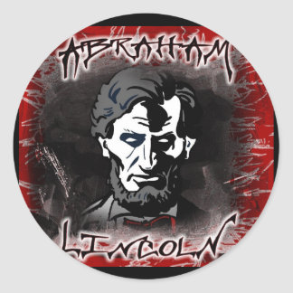 Lincoln Bloodless Horror Star Classic Round Sticker