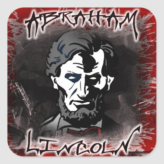 Lincoln Bloodless Horror Star Square Sticker