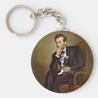 Lincoln -Boston Terrier #4 Keychain
