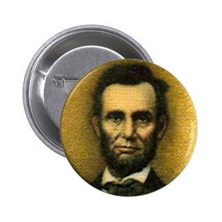 Lincoln - botón pin redondo de 2 pulgadas