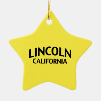 Lincoln California Christmas Tree Ornament