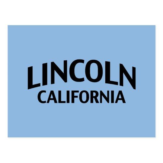Lincoln California Postcard