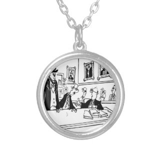 Lincoln Cartoon 5488 Silver Plated Necklace