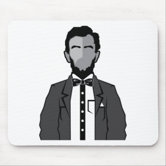 Lincoln cartoon vector mouse pad
