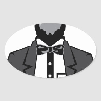 Lincoln cartoon vector oval sticker