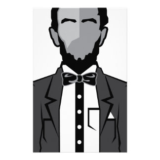 Lincoln cartoon vector stationery