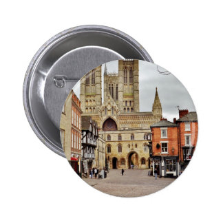 Lincoln cathedral pinback buttons