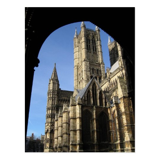 Lincoln Cathedral, England Postcard